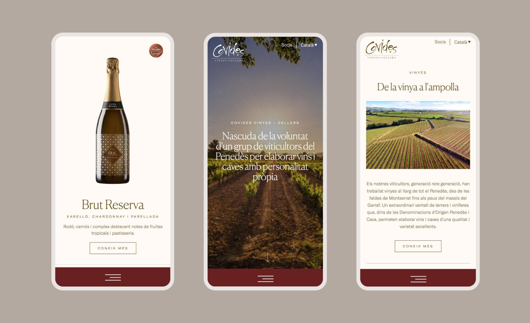 Web Covides versión móvil