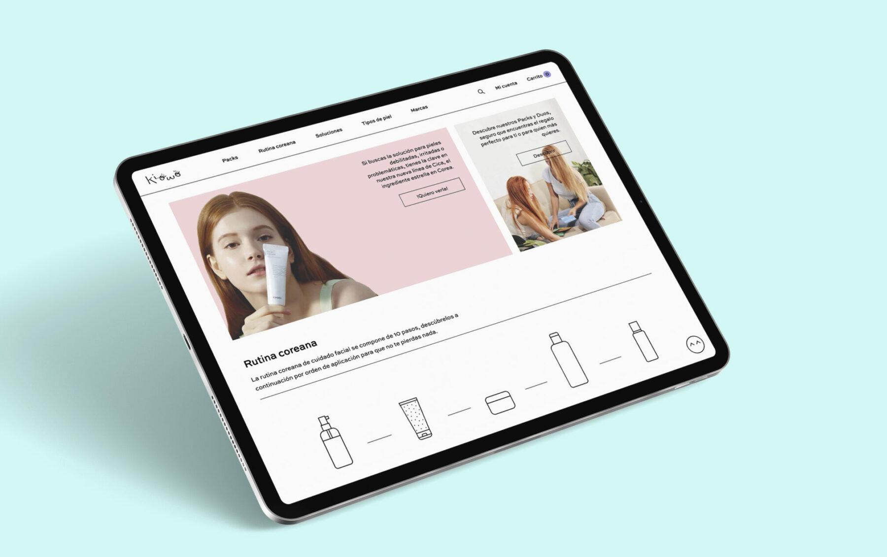Kiowo, e-commerce español de productos de cosmética coreana